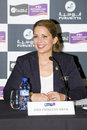 Princess haya bint al hussein press conference before furusiyya fei nations cup team consolation competition on september in Royalty Free Stock Photos