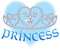 Princess Heart Tiara Royalty Free Stock Photos