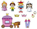 Princess icons Royalty Free Stock Photo