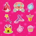 Princess icons a vector illustration of icon designs Royalty Free Stock Image