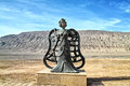 Princess iron fan statue come from an old novel journey to the west located at flaming mountain turpan of xinjiang Royalty Free Stock Photography