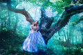 Princess in magic forest Royalty Free Stock Photo