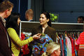 PRINCESS MARY AT FASHION FAIR CIFF Stock Photography