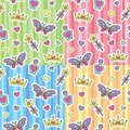 Princess patterns set Royalty Free Stock Images