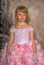 Princess in a pink dress cute girl Stock Photo