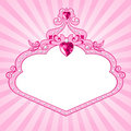 Princess pink frame Stock Photography