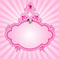 Princess pink frame Royalty Free Stock Images