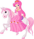 Princess riding horse Royalty Free Stock Photography
