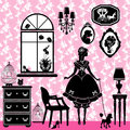 Princess Room with glamour accessories