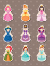 Princess stickers Royalty Free Stock Images