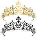 Princess Tiara Crowns Vector Illustration Royalty Free Stock Photo
