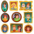 Princesses And Queens Portrait Wall Royalty Free Stock Photo