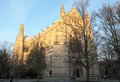 Princeton university chapel in campus at twilight Royalty Free Stock Photos