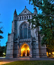 Princeton university chapel an evening view of the exterior of the on the campus of in new jersey Royalty Free Stock Image