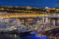 Principality of monaco french riviera the port in the a sovereign city state located on the Royalty Free Stock Image