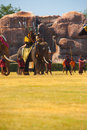 Principe Burmese Waiting Battle Elephant Fotografia Stock Libera da Diritti