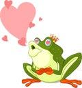 Principe della rana che attende per essere baciato Immagine Stock Libera da Diritti