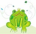 Principe Vector Illustration della rana Immagine Stock Libera da Diritti