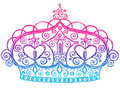 Principessa imprecisa Tiara Crown Notebook Doodles Fotografie Stock