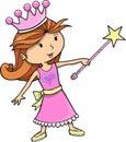 Principessa sveglia Girl Vector Immagini Stock Libere da Diritti