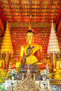 Principle buddha image in wat sisaket temple at chiangmai thailand Royalty Free Stock Image