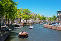 Prinsengracht channel in Amsterdam Royalty Free Stock Photos