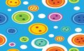 Abstract vector background all color bubbles