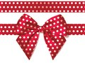 Light red silk bow with ribbon decoration for gift Royalty Free Stock Photo