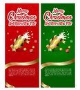 Sets of Christmas party banner with beer in glass