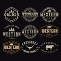 Antique frame border label engraving retro Country Emblem Typography for Western Bar/Restaurant Logo Design inspiration. Elements