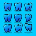 Set Of Dental Modern Logo Vector