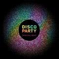 Disco lights rainbow geometric neon glowing grid