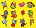 Cat funny illustrations