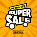 Sale banner template comic style