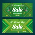 St patrick`s day sale banner background