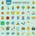 44 money icons set and financial and investment.