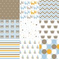 Set of baby boy patterns. Seamless pattern vector. Design elements.