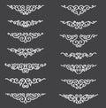 Ornamental Rule Lines. Decorative Vector Design Elements - Vector. Border and divider. Reflection flat effect.