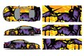 Car decal wrap design vector. Graphic abstract stripe racing background kit designs for wrap vehicle, race car, rally,