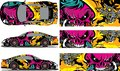 Vector car decal, abstract graphics racing design for vehicle Sticker vinyl wrap Royalty Free Stock Photo
