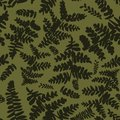 Seamless vector pattern with ferns in camouflage colors