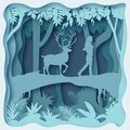 stock image of  Forest environment, paper cut abstract vector eps 10