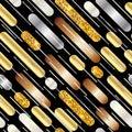 Seamless luxury pattern with diagonal stripes
