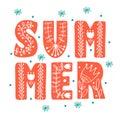 Summer Scandinavian folk ethnic style