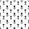 Scandinavian folk ethno surface seamless pattern