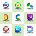 Set of logos for industrial and financial business logos