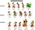 Wayang Ramayana  - Vector Illustration Royalty Free Stock Photo