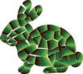 3D Green colored Rabbit design.
