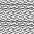 Vector seamless triangles pattern maori, ethnic, japan style. Modern style texture. Repeating geometric tiles from striped triangl