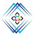 House, home, real estate, logo, blue architecture symbol building icon vector design